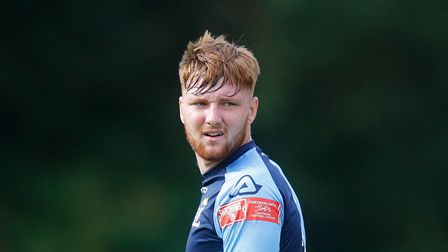 Charlie Johnson was thrown up front late on as St Neots Town pushed for an equaliser at Bedford Town in the FA Trophy.