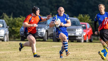 Mike Brennan on the charge for St Ives against Market Bosworth.