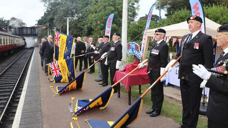 Eight RBL standard bearers attended the event on Sunday at the North Norfolk Railway's Sheringham station