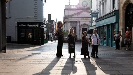 Evie-Grace Forsdick and her friends went on a wizard-themed tour around Norwich with Evie's five owls.