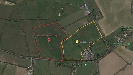 The festival sites in Cuffley and Northaw would have shared a boundary.
