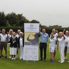 Welwyn & District Bowls Club celebrate their win in the WGC100 centenary tournament.