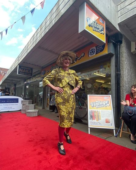 Churchgate Day saw hospice volunteers and staff take to the catwalk, showcasing the perks of vintage fashion