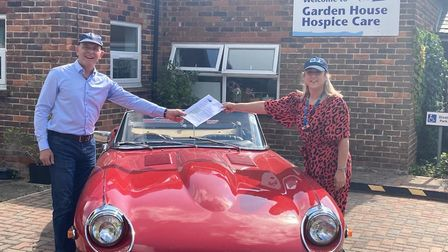 The hospice has teamed up with The Car Agents