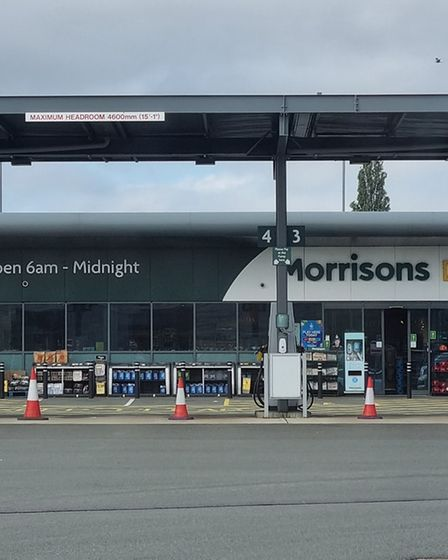 Morrisons petrol station in St Ives had run out of fuel on Saturday afternoon.