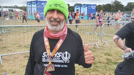 Handout photo dated 12/09/21 of Harmander Singh, 62, of Ilford, east London, who is preparing to run