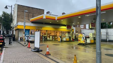 The Shell petrol station in Upper Street, Islingon, is closed amid a nationwide fuel shortage