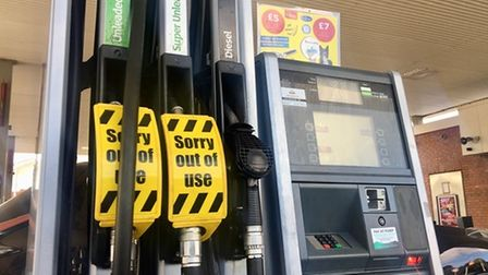Fuel shortages led to misery for drivers who had queued for up to an hour.