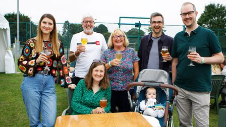 The Morris family enjoy CAMRA Beer & Cider Festival 2021 at Hitchin Rugby Club
