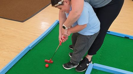 Pupils at ClareSchool in Norwich can now play crazy golf during the school day.