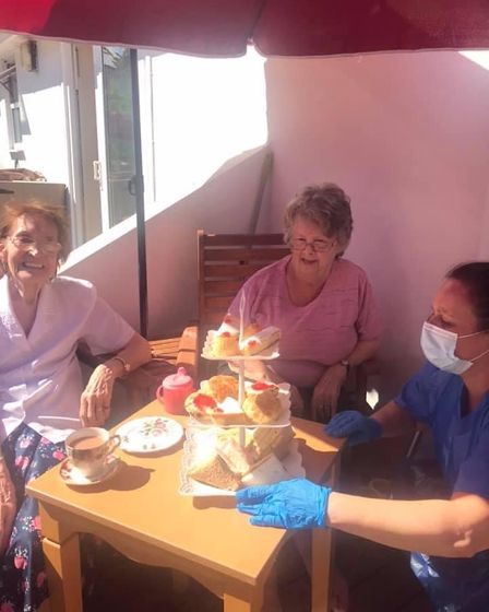 Afternoon tea for Grange-Lea residents
