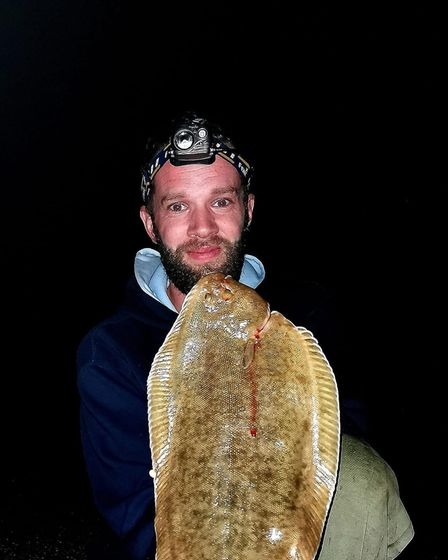 Kyle Blackmore with a 2lbs Sole