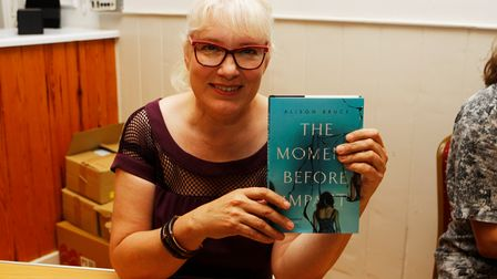 Litfest - Alison Bruce at the book signing.Picture: Karyn Haddon
