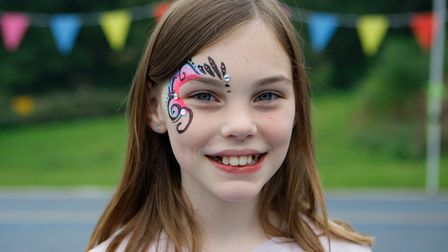 Sherrardswood School Family Day - Emily McGhie, 9, with a painted face.