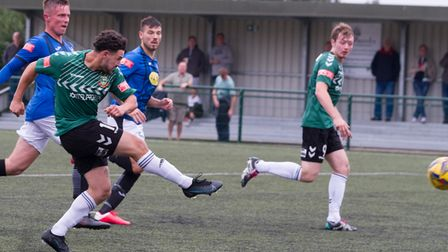 Liam Brooks fires in Hendon's opening goal