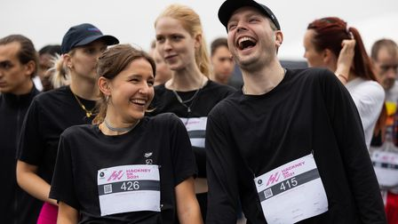 Runners getting ready to run the Hackney 5K on Saturday September 25.