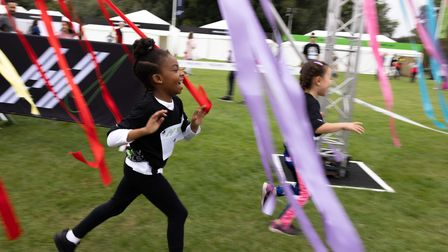Young runners take part in the free Hackney 5K.