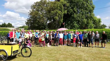 The A10 Corridor Awareness Ride last took place in 2019. Picture A10 Corridor Cycling Campaign
