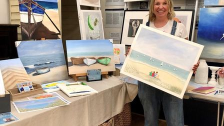 Tracie Fry exhibiting at the Folk Hall