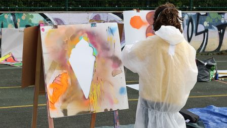 Graffitti workshops at Portishead Youth Centre by Bob cartwright