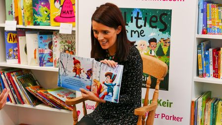 Stevenage-basedauthor Gemma Keir reads her books to children at the opening of Next Page Books in Hitchin