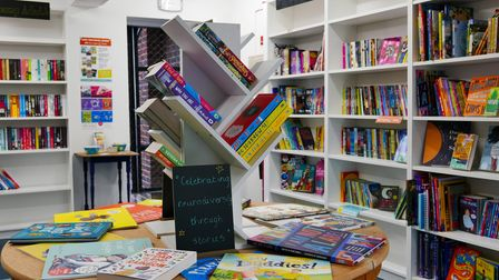 The opening of Next Page Books in Hitchin, Hertfordshire, UK. Picture: DANNY LOO