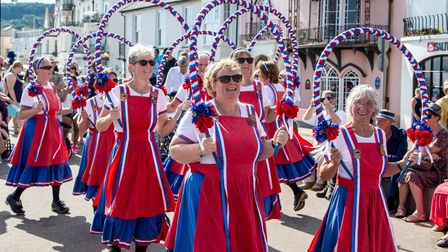 sidmouth steppers at the town folk week