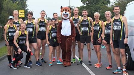 North Herts Road Runners at the start of their own Standalone 10k in Letchworth Garden City.
