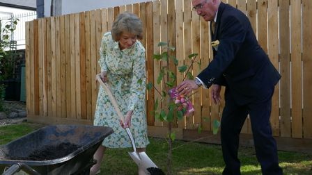 Lady Arran, the Countess of Arran, planted a plum tree to celebrate the event