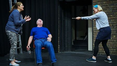Rehearsals for Five Kinds of Silence, which is to be performed by the Company of Ten at the Abbey Theatre in October.