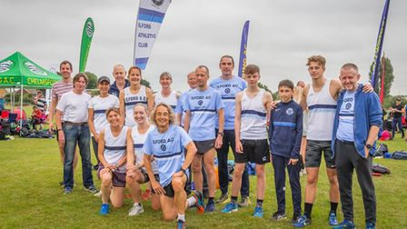 Ilford Athletics Club atThe Essex Cross Country League in Hockley