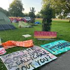 The camp cost an estimated £50,000 to remove.
