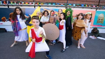 Year 5 pupils from St Michael's Primary School in fancy dress for their history day