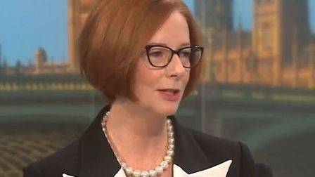 Former Australian prime minister Julia Gillard told BBC breakfast viewers that a new trade deal with