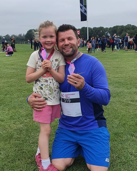 At 5 years old, Eliana was one of the youngest to run the Hackney 5K.