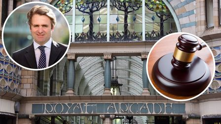 The Royal Arcade has been sold for £3.375m, inset Guy Gowing of Arnold Keys