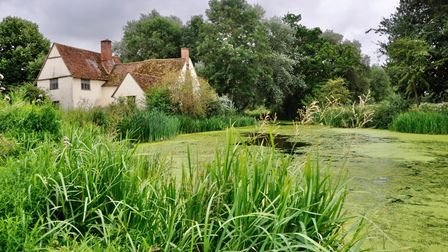 Willy Lott's house is the scene made famous in Constable's The Haywain.