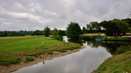 Crossing the Stour at the start of the walk.