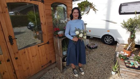 Ellen Hunt, from Hainford, who moved her business - Ellen's Florist - to her home after the 2020 coronavirus lockdown