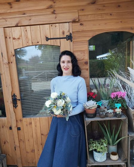 Ellen Hunt, owner of Ellen's Florist, which now operates from Hainford after moving from Norwich
