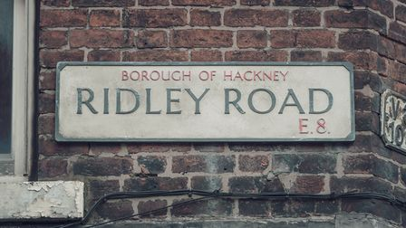 Programme Name: Ridley Road - TX: n/a - Episode: n/a (No. n/a) - Picture Shows: Ridley Road sign -