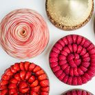 Fabulous fruit tarts: precision placed strawberries and raspberries on miniature tarts