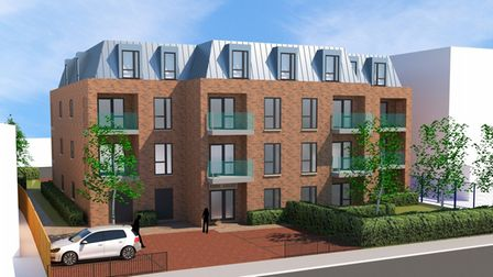 CGIs show how the new York House apartment block in Guildford Road, St Albans, will look .