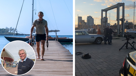 Sean McMillan from Spirt Yachts, Daniel Craig and Ipswich Waterfront filming