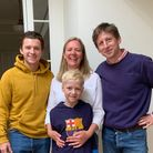 Tom Holland with family for Momentum Children's Charity