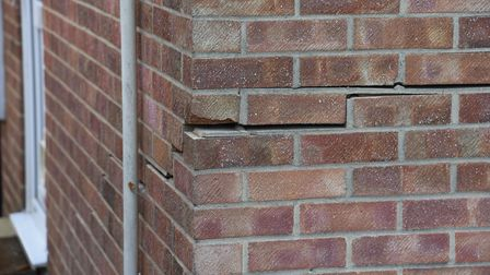 Cracks in the wall of James and Joan Coughlan's home due to a subsidence issue. Picture: Danielle Bo