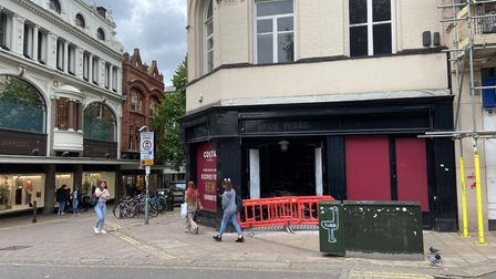 The former Jack Wills store on London Street, Norwich, which will become a Costa Coffee