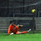 Colney Heath's Connor Sansom came up big with a second-half penalty save away to Aylesbury United.
