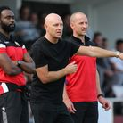 Hornchurch manager Mark Stimson (C) during Hornchurch vs Walthamstow, Emirates FA Cup Football at Ho