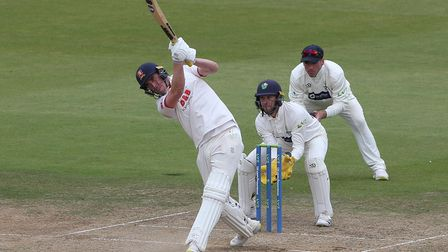 Dan Lawrence hits out for Essex during Glamorgan CCC vs Essex CCC, LV Insurance County Championship